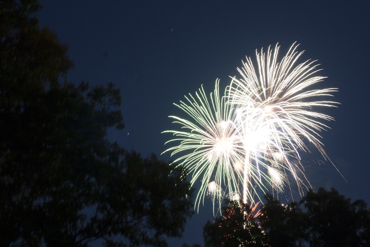 Annual Fireworks Display Atop Saunders Heights Each July 4th